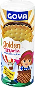 Goya Foods Golden Maria Sandwich Cookies with Chocolate Flavored Filling, 5.1 Ounce (Pack of 24)