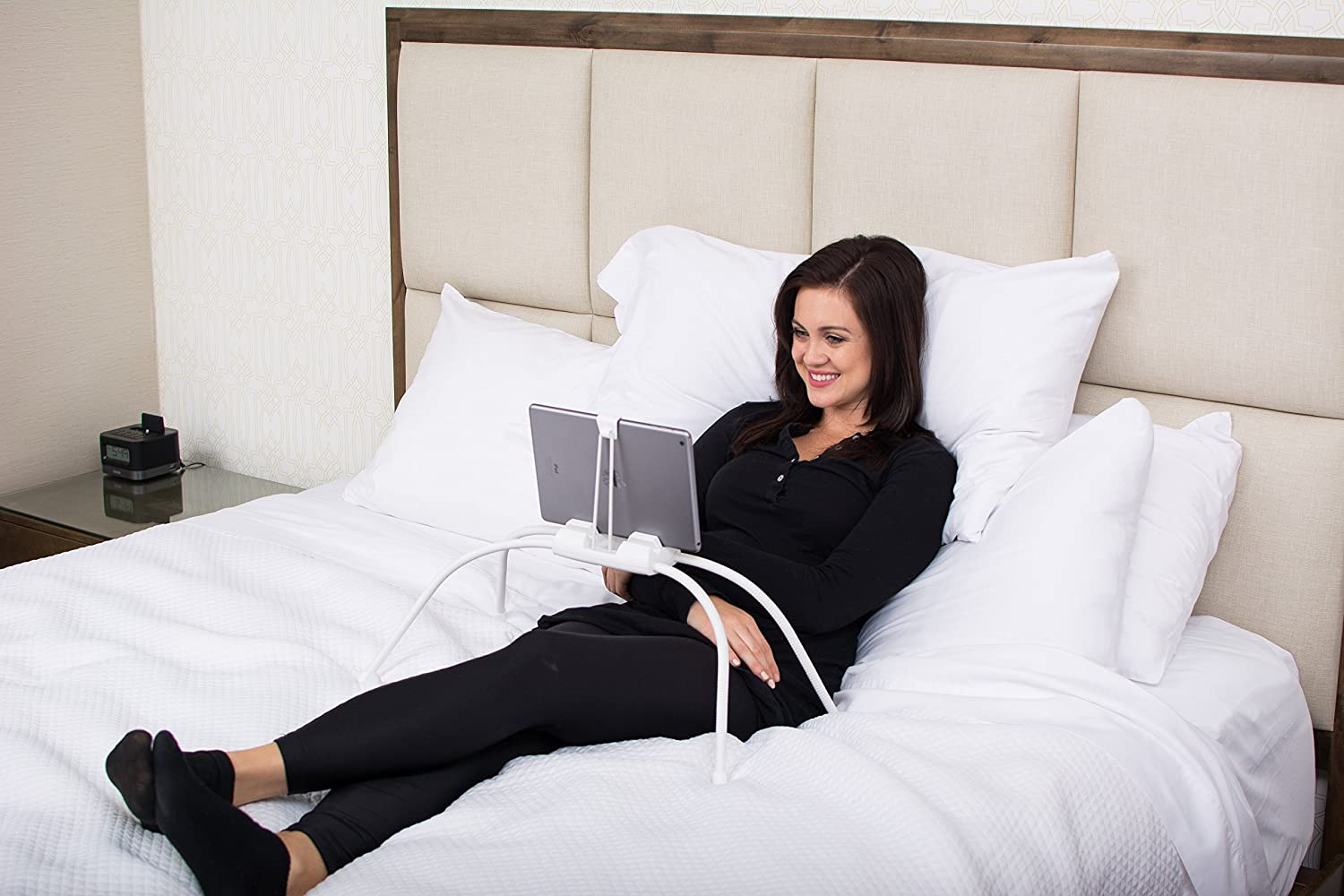 Tablift Tablet Stand (in White) for the Bed, Sofa, or Any Uneven Surface Nbryte 4328658209