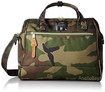 5db54552b142 Japan Anello LARGE CAMO 2 Way Unisex Shoulder Bag Poly Canvas Waterproof  Campus