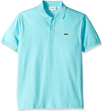 8d6e6670 Lacoste Men's Short Sleeve Pique L.12.12 Classic Fit Polo Shirt, Horizon  Blue,