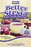 Better Stevia French Vanilla Now Foods 75 Packets Powder