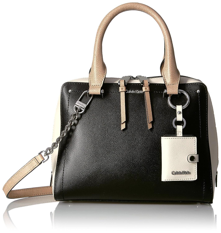 ffb222217da7 Amazon.com  Calvin Klein womens Calvin Klein Boxy Mercury Leather Satchel