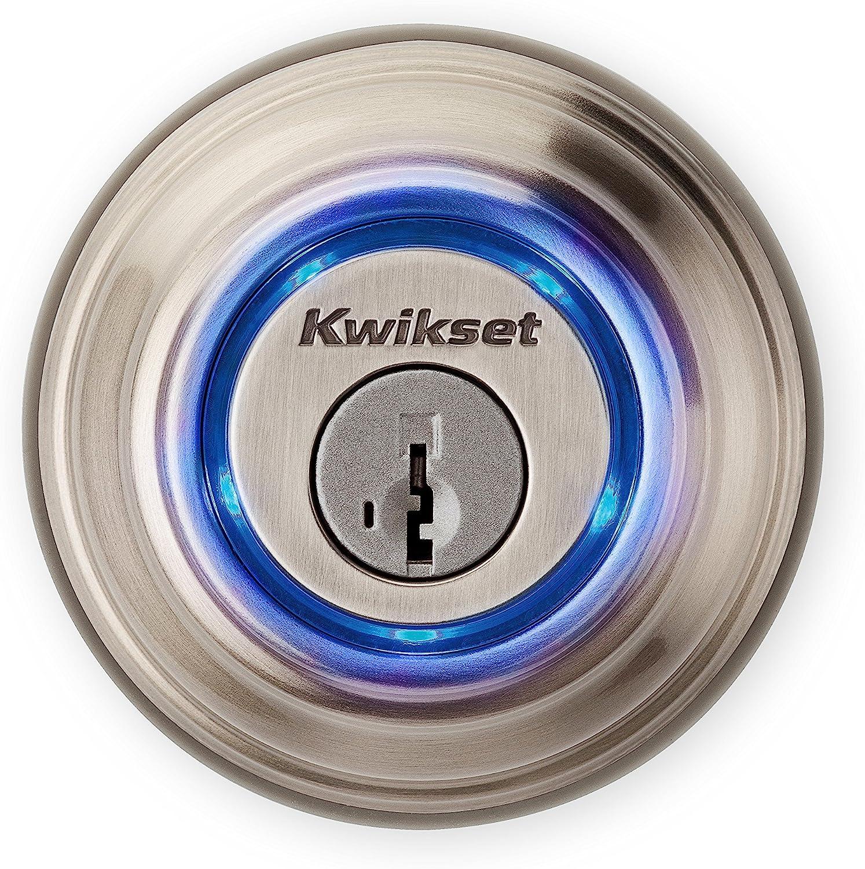 Kwikset Kevo 99250 202 Kevo 2nd Gen Bluetooth Touch To Open Smart Keyless Entry Electronic Deadbolt Door Lock Featuring Smartkey Security Satin Nickel Amazon Com