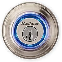 Kwikset Kevo Candado inteligente con Bluetooth táctil, sin necesidad de llaves para abrir con comodidad, Níquel Satinado