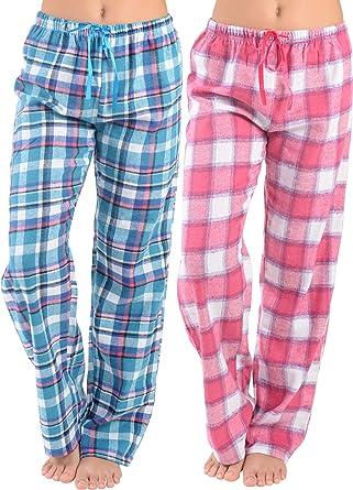 One Pair Men's Flannel Lounge Pants Plaid Sleepwear Pajama Bottoms Pockets NEW