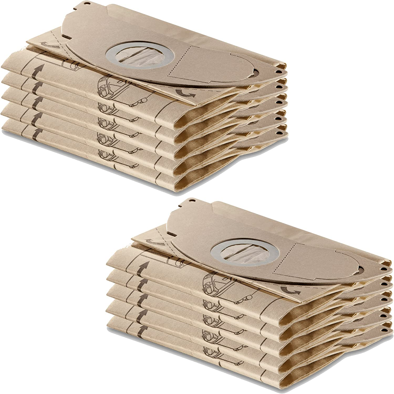 10 bolsas de papel para aspiradoras Kärcher Aspiradora en seco y ...