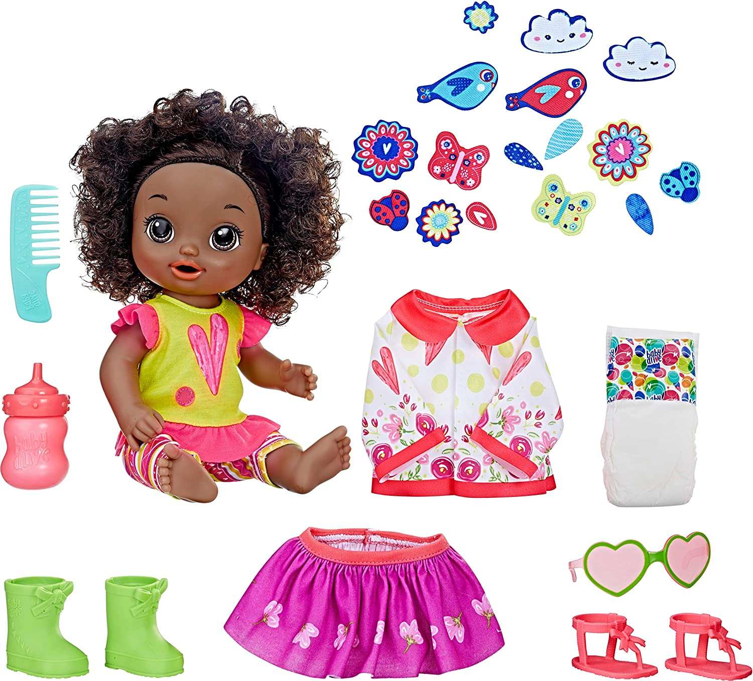 Amazon Com Baby Alive So Many Styles Baby Black Curly Hair Toys Games