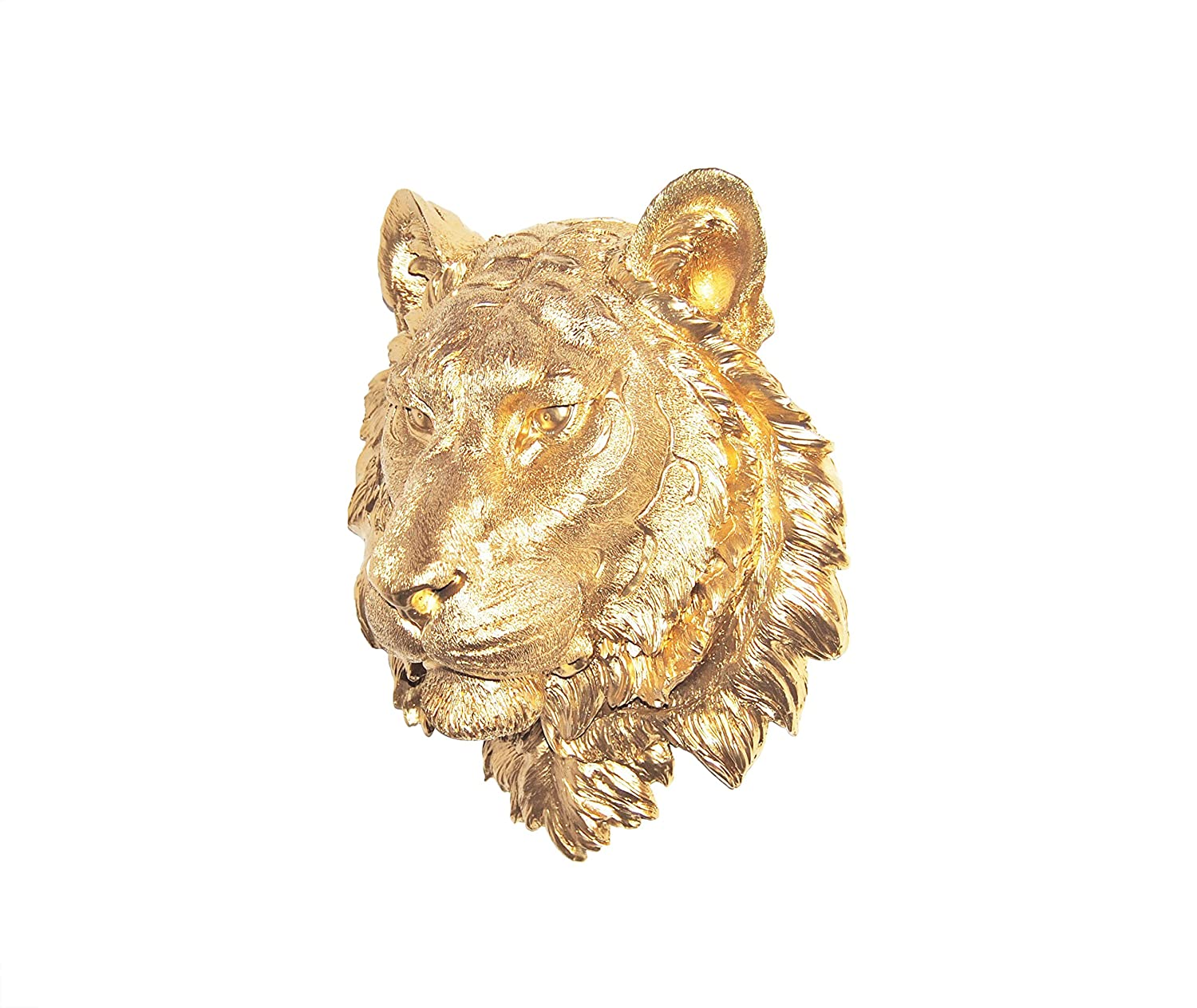 Amazon.com: Near and Deer Faux Taxidermy Tiger Wall Mount, Gold ...