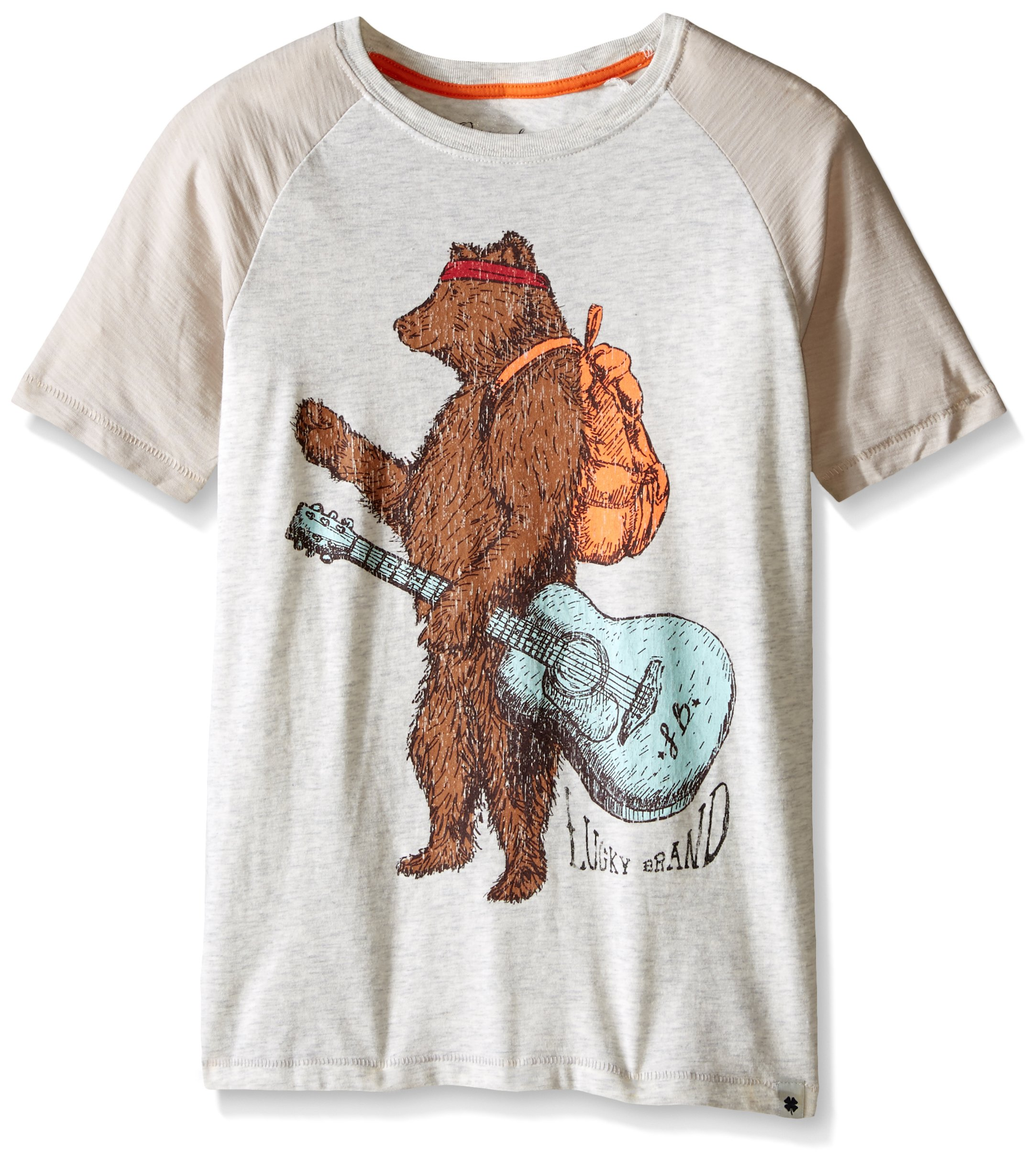 Lucky Brand Big Boys' Hitchhiker Tee, Turtle Heather, Large