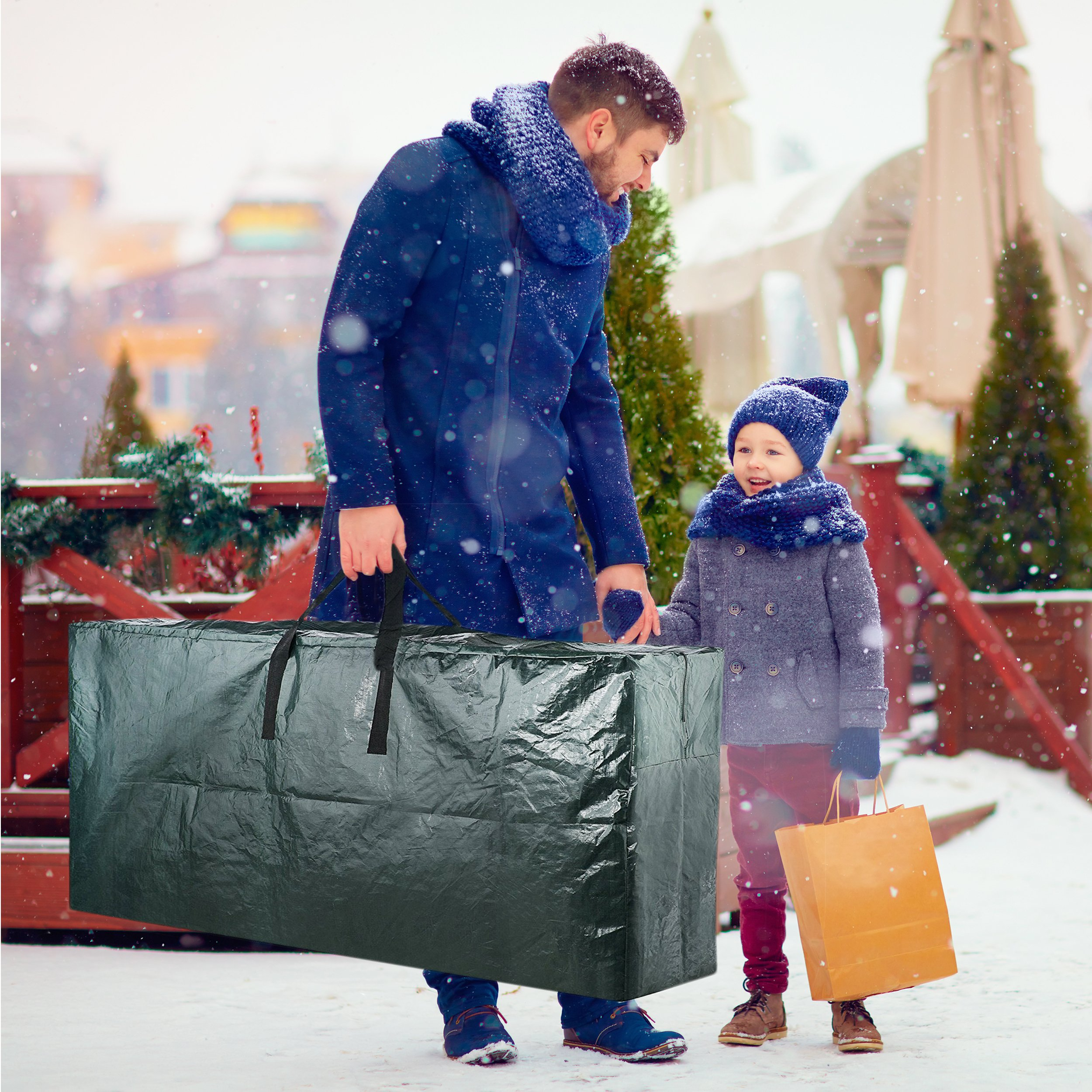 Domett Premium Christmas Tree Storage Bag, Extra Large Holiday Decoration Container, Holds up to 9 Feet Artificial Trees