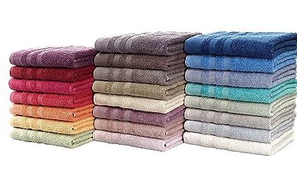 Asciugamani Per Il Bagno.Set Asciugamani Bagno Sfusi Asciugamano Ospite Telo Bagno Tappeto 100 Cotone 500 Gr Mtq Disponibile In 10 Colori Tinta Unita