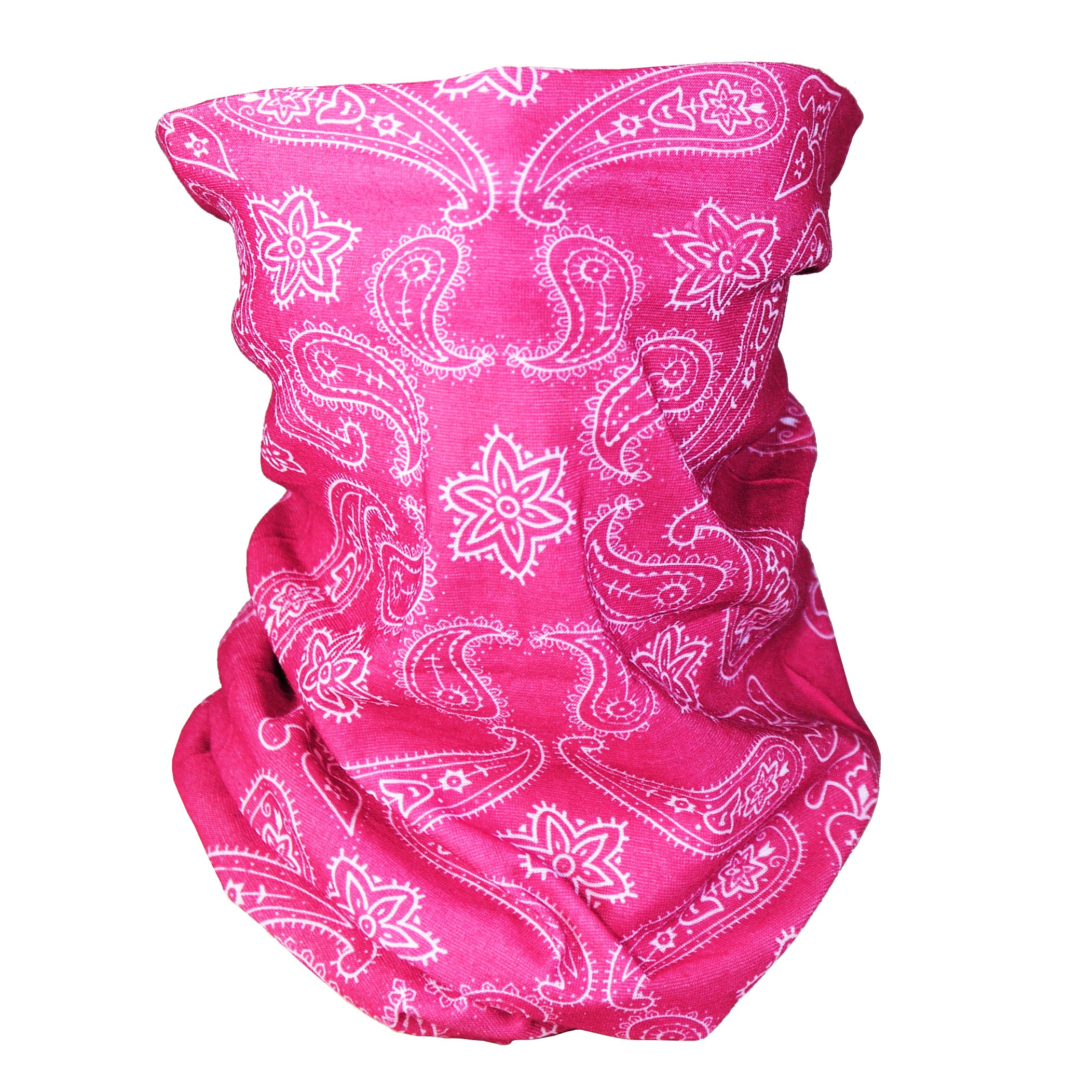 Triple9 Automotive Gear Balaclavas Seamless Face Mask Bandanas (Large paisley- Pink)