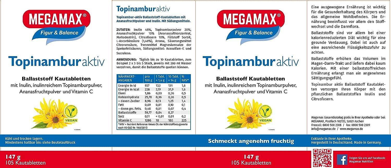 MEGAMAX - Topinambur - Comprimidos masticables con fibra ...