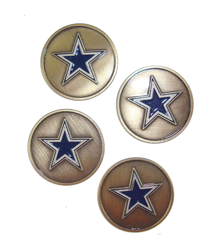 Dallas Cowboys Golf Ball Markers ( 4 Pack )   B077YD6JBN