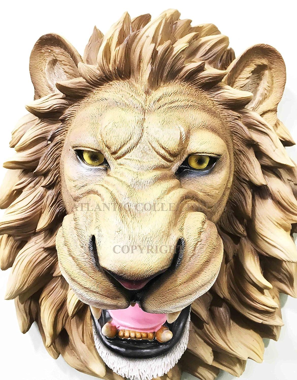 Amazon.com: Ebros Gift Large King Of The Jungle Roaring Lion Head ...