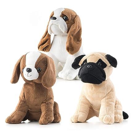 Amazon Com Prextex 3 Piece Realistic Looking 8 Plush Puppies