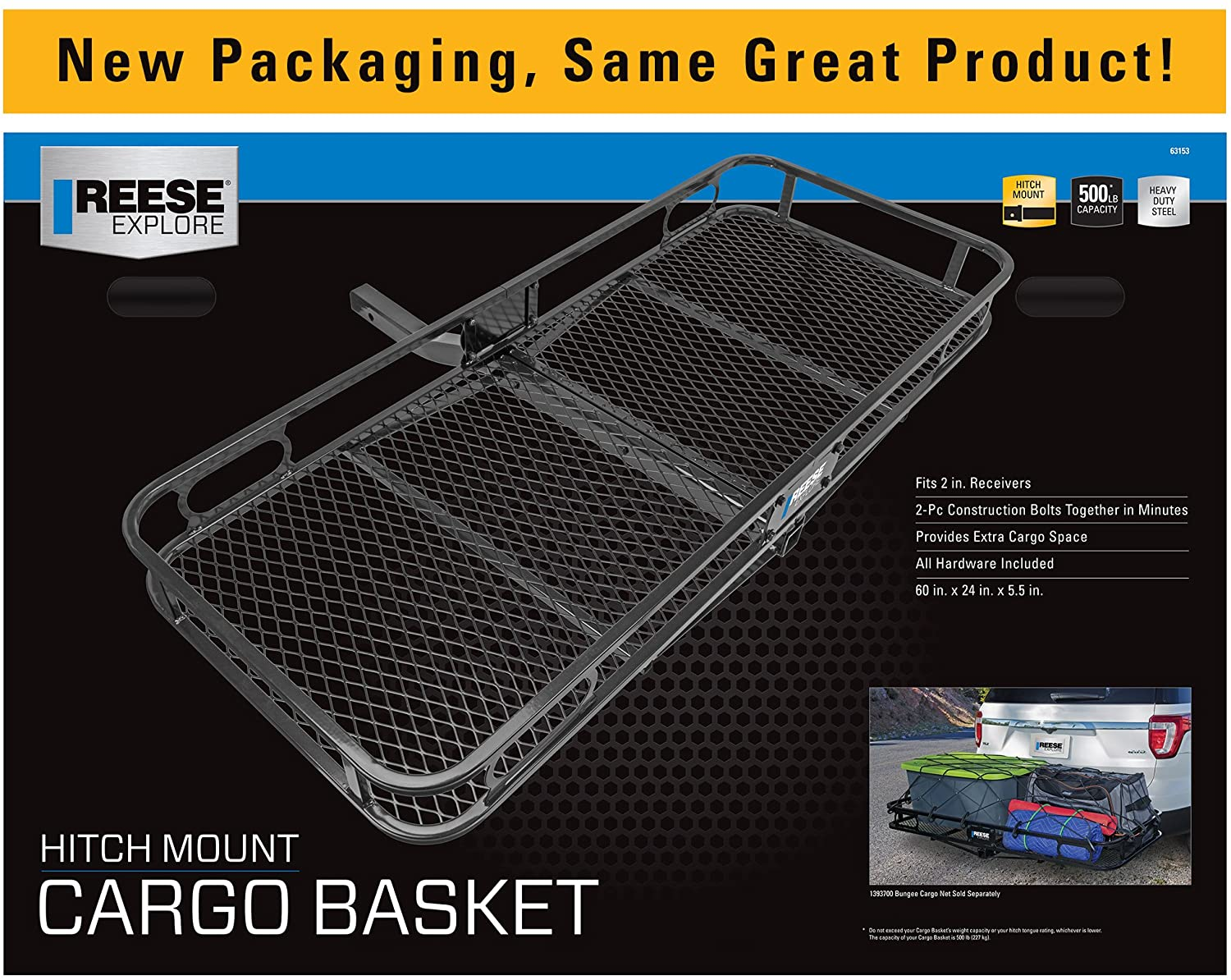 """Pro Series 63153 Rambler Hitch Cargo Carrier for 2/"""" Receivers"""