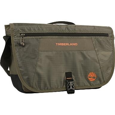 1941b18874 Timberland Messenger Backpack Briefcase Travel Bag, Burnt Olive/Burnt Orange