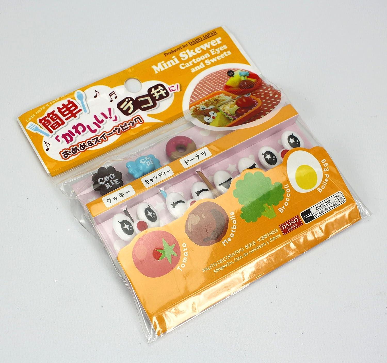 Compra Cute japonés palillos para aperitivos para niños caja de Bento almuerzo - Cartoon Ojos y dulces en Amazon.es