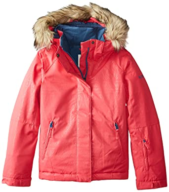 76e97aa236bd Amazon.com  Roxy Big Girls  American Pie Solid Snow Jacket  Clothing