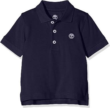 Timberland Polo Manches Courtes Camisa, Azul (Indigo Blue), 18-24 Meses (Talla del Fabricante: 18M) para Bebés: Amazon.es: Ropa y accesorios