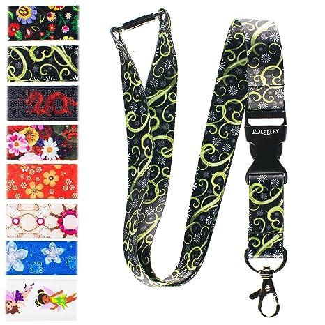 SpiriuS STARS breakaway Lanyard neck strap for id badge holder with clip BJ