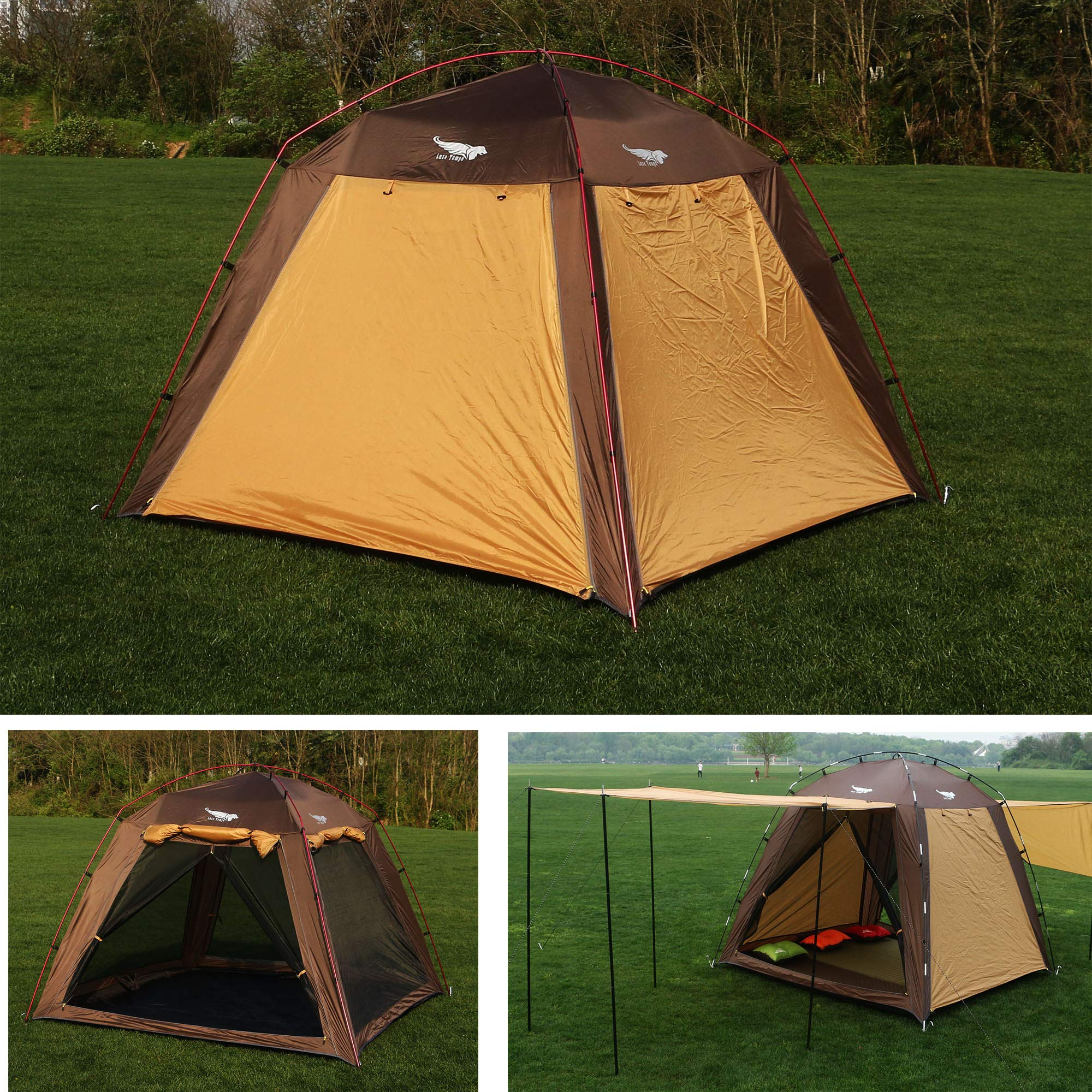 Luxe Tempo Screen House Tent 3-4 Person Canopy Tent Sun Shade Lightweight for Beach Backyard Camping Tall Fast Pitch by Luxe Tempo