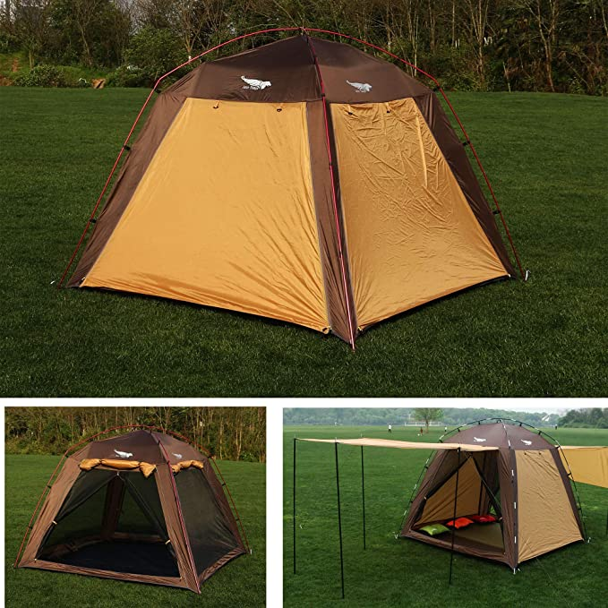 Luxe Tempo Screen House Tent 3 Person Screen Room Lightweight for Beach Backyard Camping Tall Fast Pitch