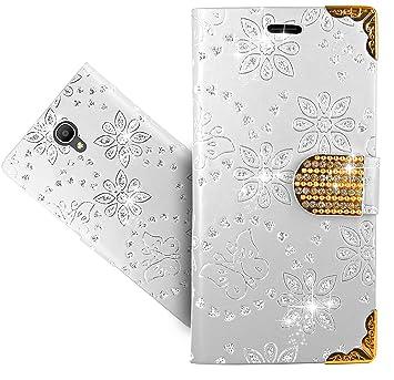 detailed look 1f8ed 3e345 Alcatel Pop 4 Plus (5.5) Case, FoneExpert® Bling Luxury Diamond Leather  Kickstand Flip Wallet Bag Case Cover For Alcatel Pop 4 Plus (5.5)