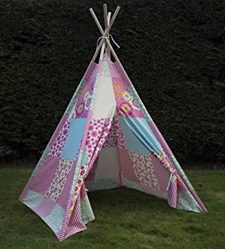 Twinkle Stars Childs Girls Teepee Wigwam Canvas Play Tent & Twinkle Stars Childs Girls Teepee Wigwam Canvas Play Tent: Amazon ...