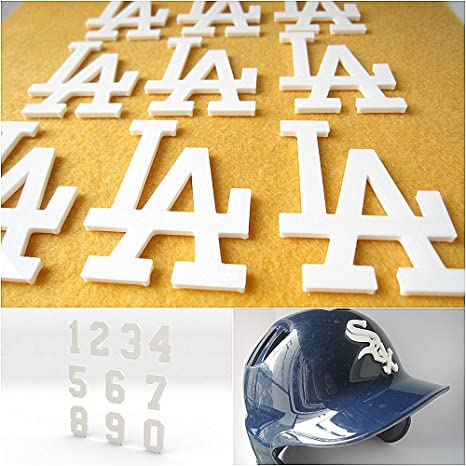 Calcomanía 3D para casco de béisbol con texto en inglés