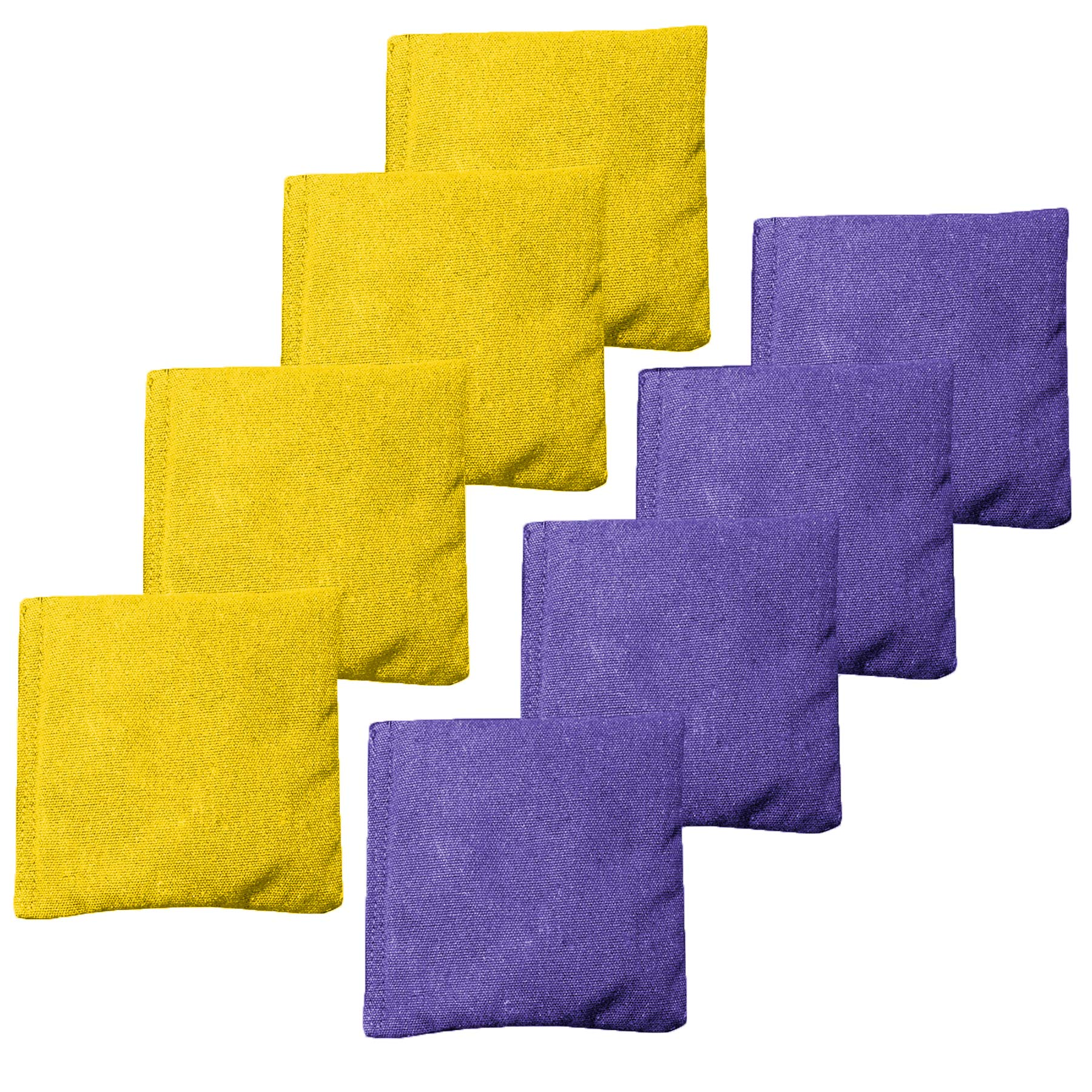 Weather Resistant Cornhole Bean Bags Set of 8 - Regulation Size & Weight - Purple & Yellow by Play Platoon