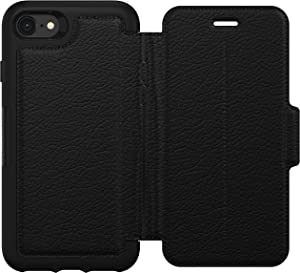 OtterBox Strada Series Leather Folio Case w/Card Slot for iPhone SE (2020), iPhone 8, iPhone 7 (NOT Plus) Non-Retail Packaging - Shadow