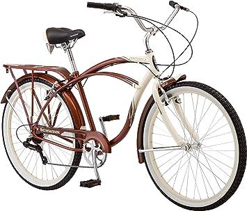 Schwinn Sanctuary - Bicicleta Cruiser de 7 velocidades para Hombre ...