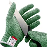 NoCry Cut Resistant Gloves - Ambidextrous, Food Grade, High Performance Level 5 Protection. Size Small, Green…