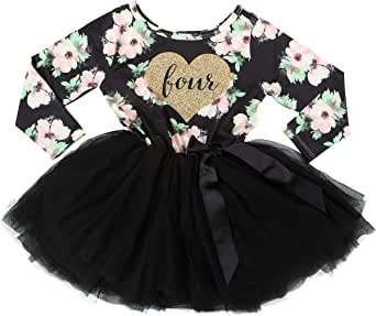Grace & Lucille 4th Birthday Dress (Long Sleeve)
