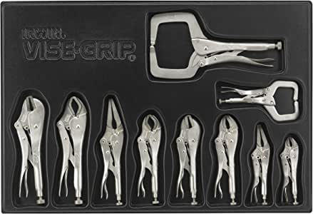 IRWIN VISE-GRIP Locking Pliers Set with Tray, 10-Piece (1078TRAY)