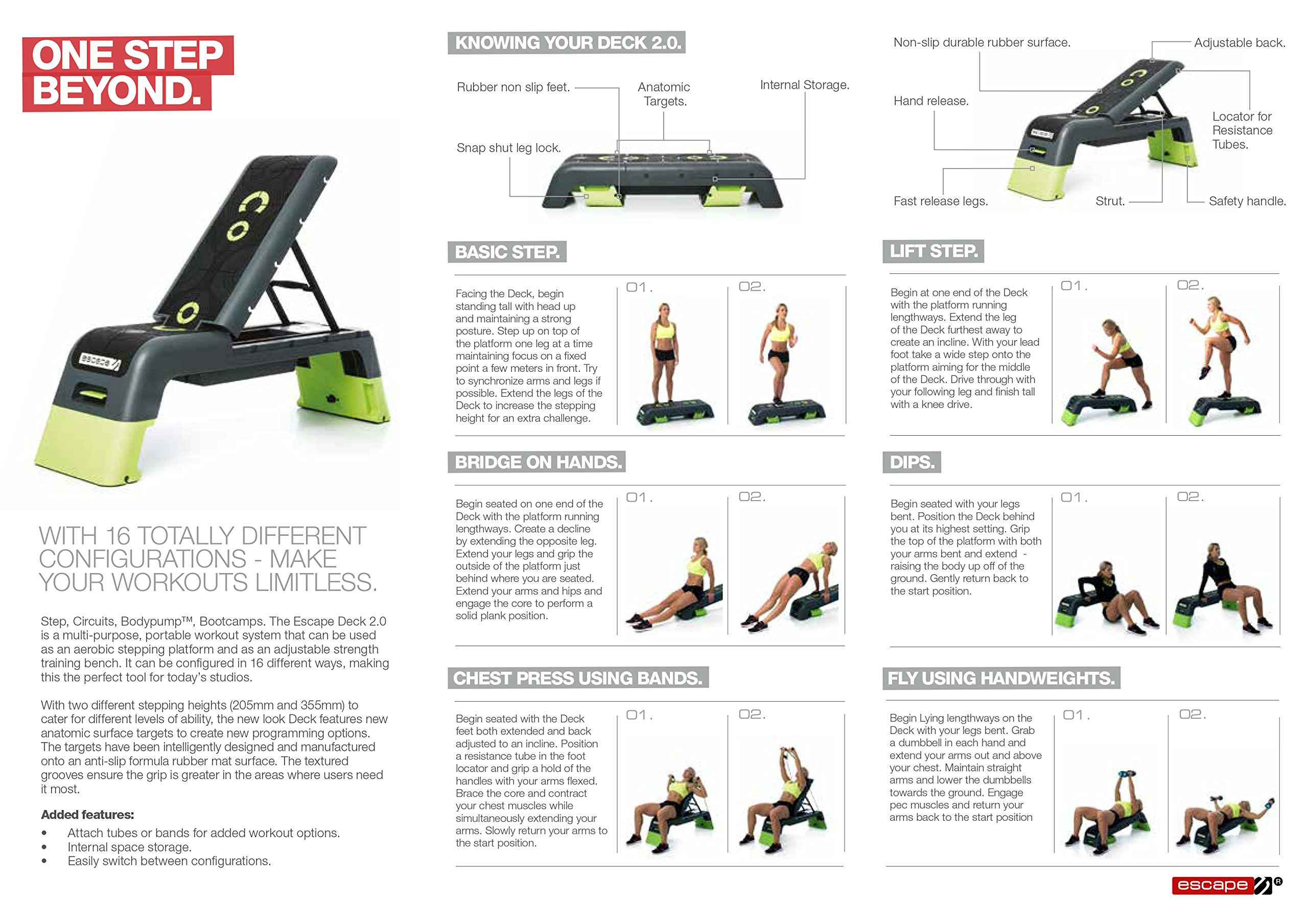 Escape Fitness Deck - Workout Bench and Fitness station by Escape Fitness USA (Image #20)