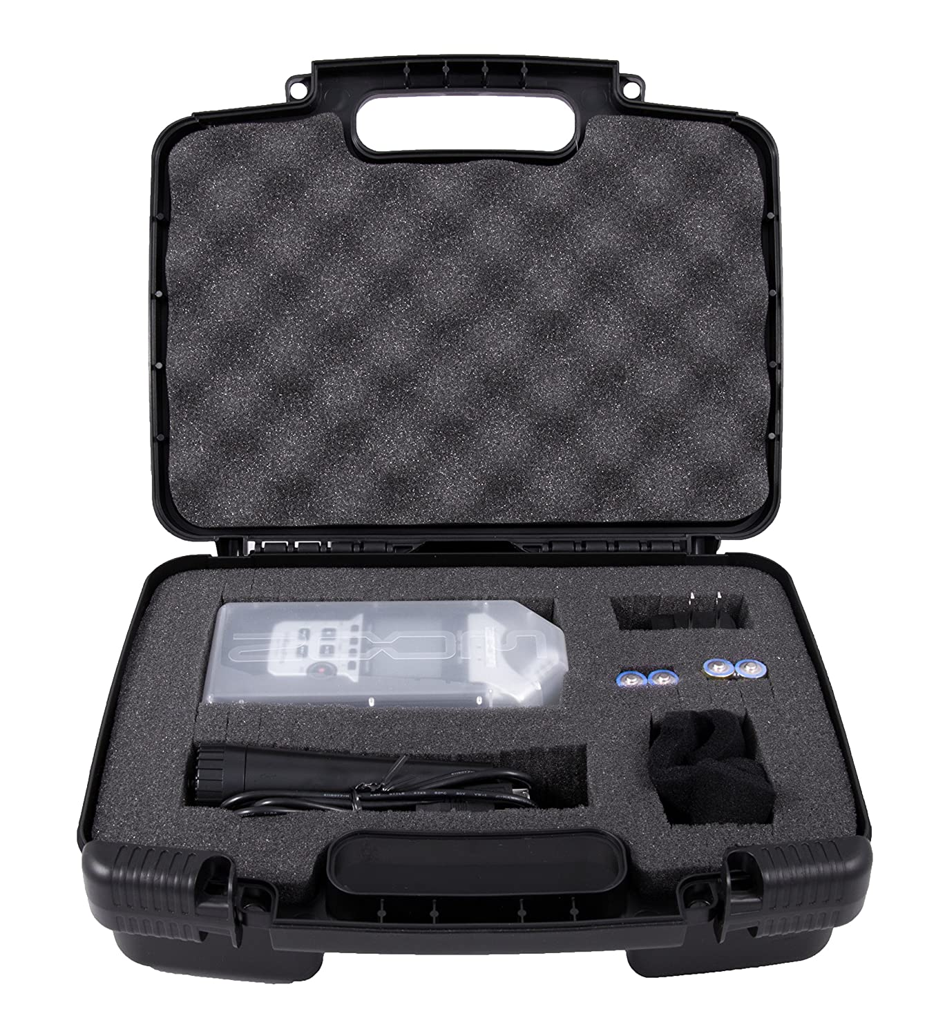 CASEMATIX Portable Recorder Carrying Travel Hard Case w/Dense Foam fits ZOOM H1, H2N, H5, H4N, H6, F8, Q8 Handy Music Recorders, Charger, Mic Tripod Adapter and Accessories 10766773