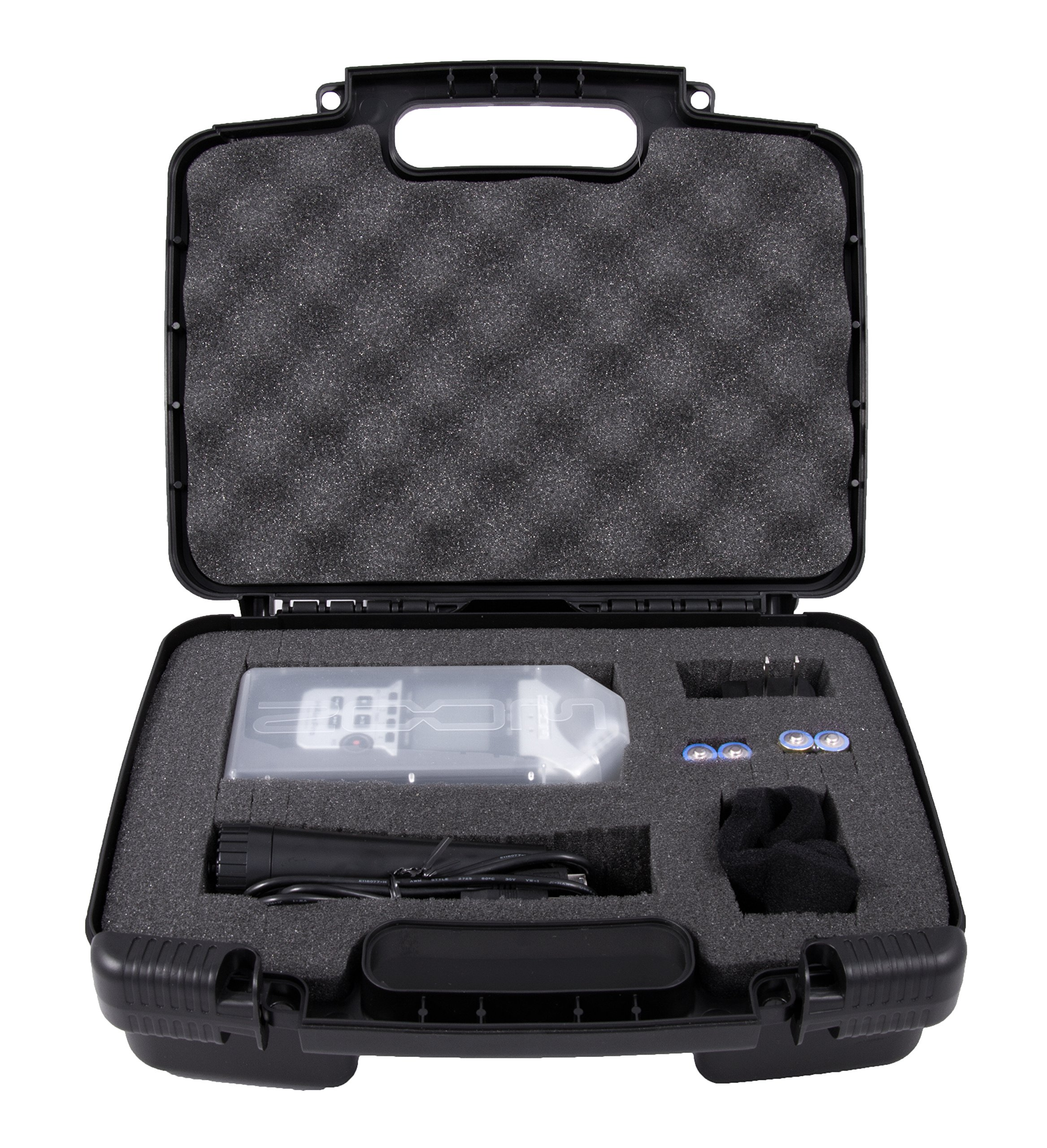 CASEMATIX Portable Recorder Carrying Travel Hard Case w/Dense Foam fits ZOOM H1, H2N, H5, H4N, H6, F8, Q8 Handy Music Recorders, Charger, Mic Tripod Adapter and Accessories