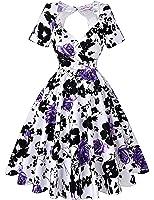 Short Sleeve 1950s Vintage Dresses for Women