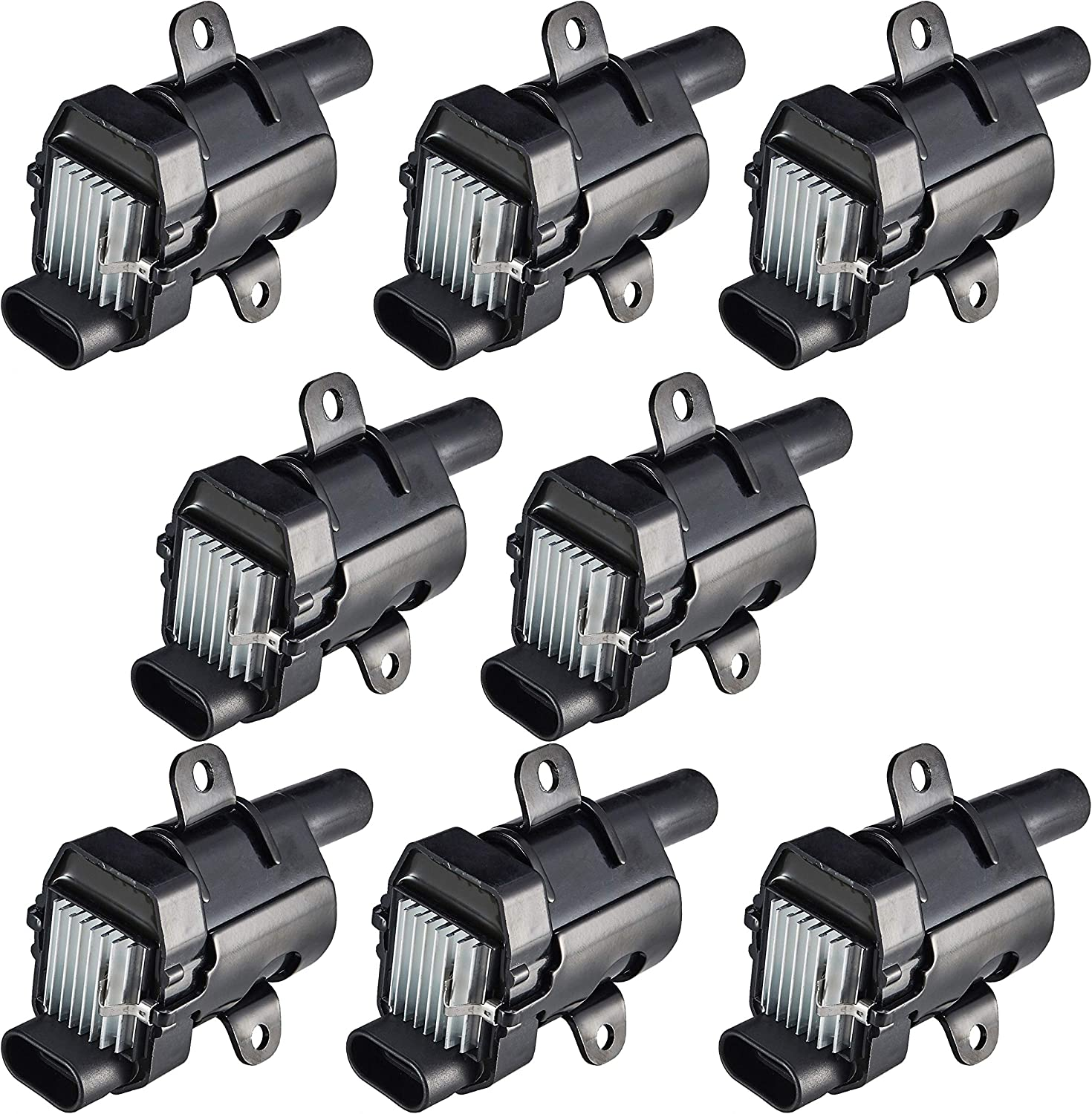 Scitoo Round Ignition Coils Pack of 8 fit Chevrolet Buick Cadillac GMC Hummer UF262 NEW