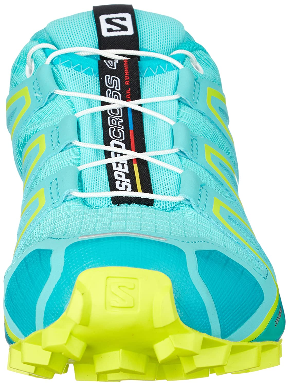 Amazon.com | Salomon Speedcross 4 Trail Running Shoe - Womens, Blue Curacao/Bluebird/Acid Lime, 5, L40124700-5 | Trail Running