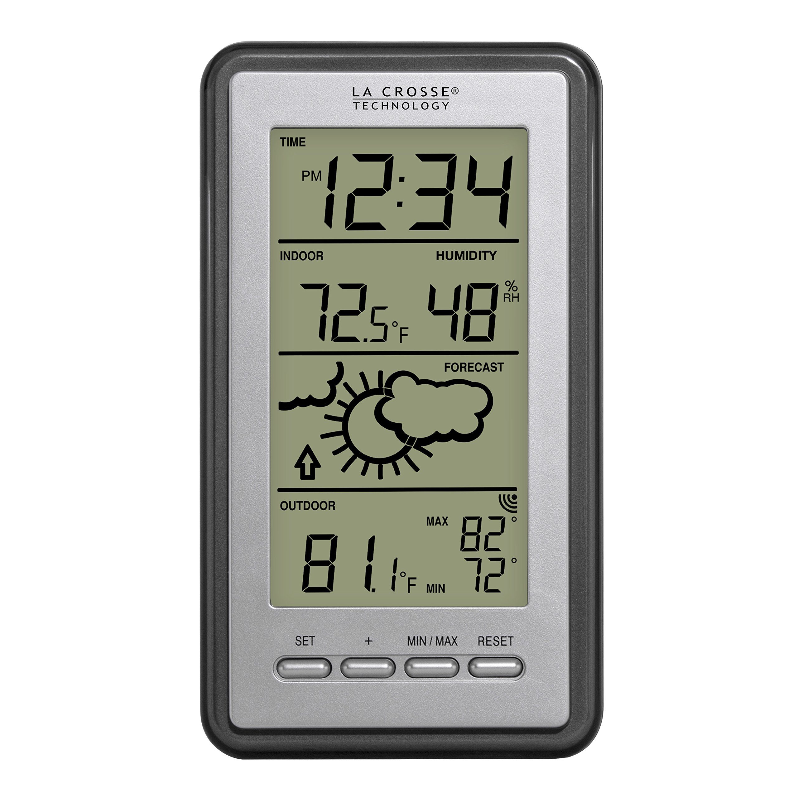 La Crosse Technology WS-9230U-IT-Int Digital Forecast Thermometer with Temp and Humidity