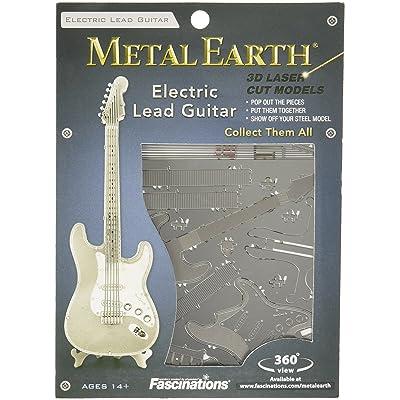 Metal Earth- Lead Guitar Maqueta Guitarra eléctrica, Color Plata (Fascinations MMS074): Juguetes y juegos