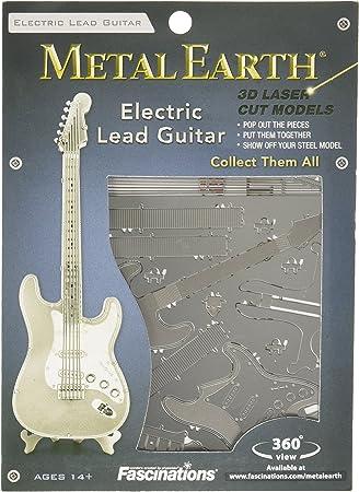 Metal Earth Lead Guitar Maqueta Guitarra eléctrica, Color Plata ...
