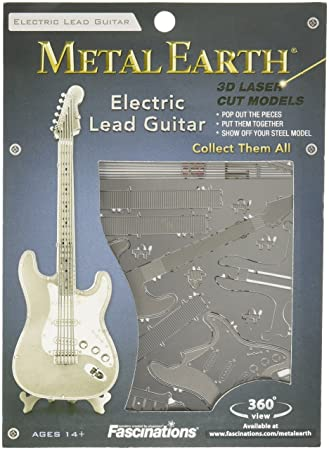 Metal Earth Lead Guitar Maqueta Guitarra eléctrica Color Plata Fascinations MMS074