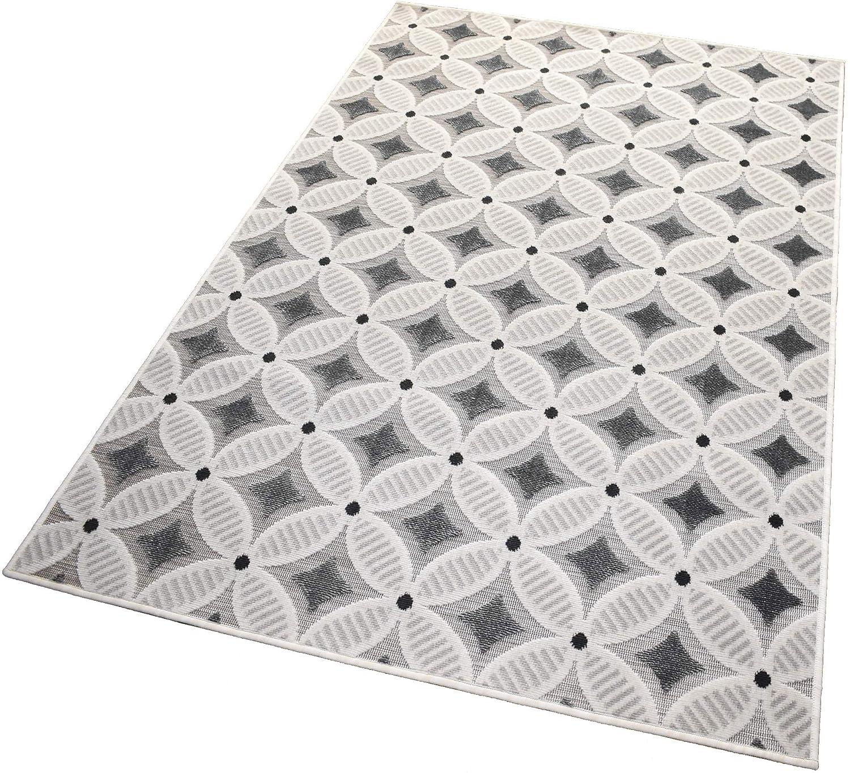 Balta Rugs in- und Outdoor-Teppich Gridstone Grau L 160x230cm für Innen und Außen