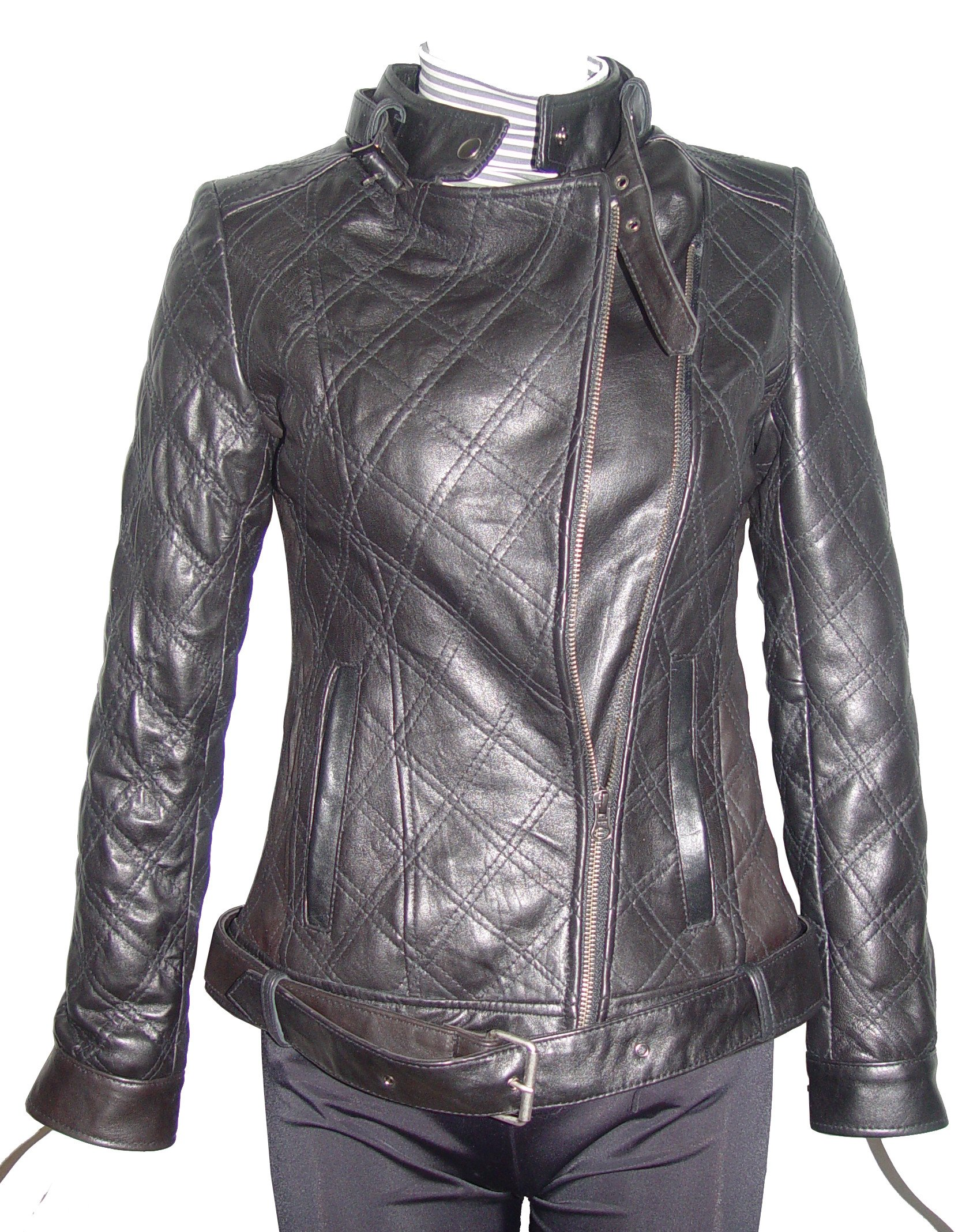 Nettailor Women PETITE & ALL SIZE Fashion 4123 Leather Motorcycle Jacket by Paccilo (Image #5)