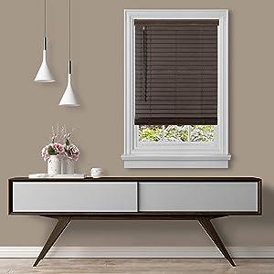 Achim Home Furnishings MFG236MH02 , Mahogany Cordless GII Madera Falsa 2